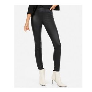 EXPRESS Faux Leather Leggings Black